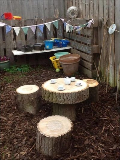 Making a Mud Kitchen